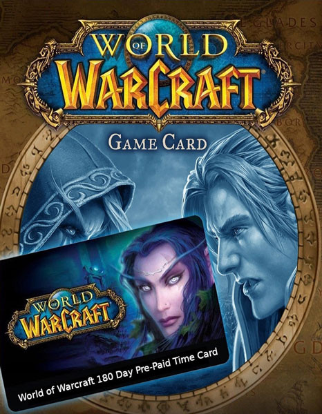 World of Warcraft 180 Day Pre-Paid Time Card - EU