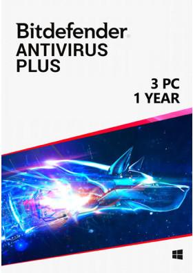 Bitdefender Antivirus Plus (3 PC / 1 rok)