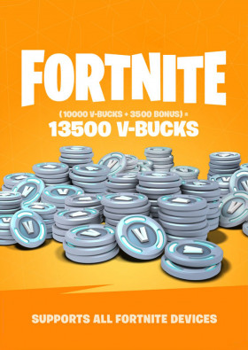 Fortnite 13500 V-Bucks Gift Card