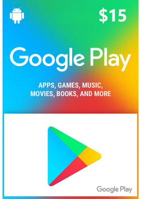 Google Play $15 Prepaid Card - USA
