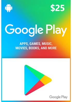 Google Play $25 Prepaid Card - USA