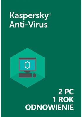 Kaspersky Anti-Virus (2 PC / 1 Rok) - Odnowienie - PL