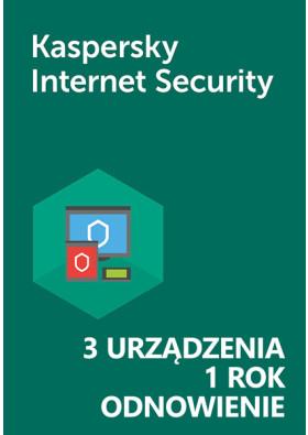 Kaspersky Internet Security (3 urządzenia / 1 rok) - Odnowienie - PL