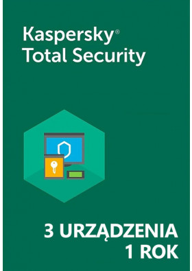 Kaspersky Total Security (3 urządzenia / 1 rok) - PL