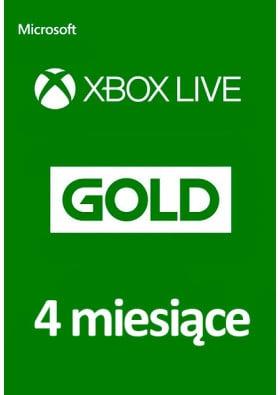 Xbox Live Gold 4 Miesiące