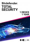Bitdefender Total Security (1 urządzenie / 1 rok)