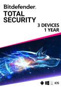 Bitdefender Total Security (3 urządzenia / 1 rok)