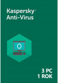 Kaspersky Anti-Virus (3 PC / 1 rok) - PL