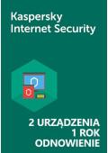 Kaspersky Internet Security (2 urządzenia / 1 rok) - Odnowienie - PL