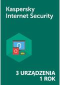 Kaspersky Internet Security (3 urządzenia / 1 rok) - PL